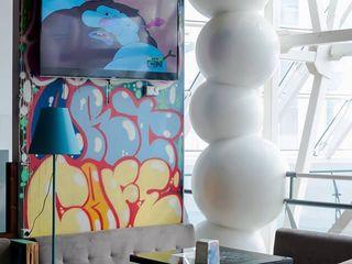 Граффити, роспись стен, художественное оформление экстерьера и интерьера.
