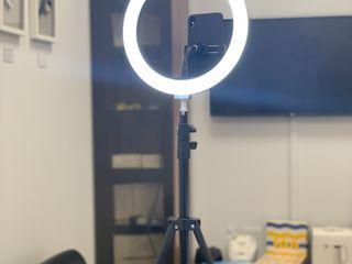 Кольцевая светодиодная LED лампа со штативом