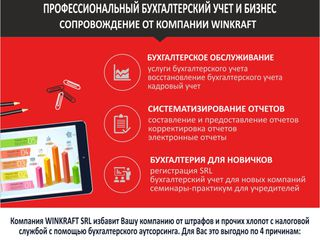 Servicii de contabilitate de la 400 lei Chisinau