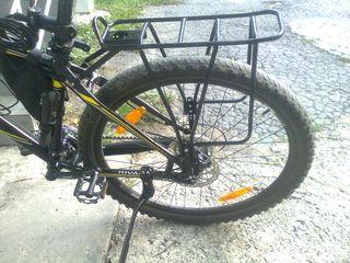 Велобагажник,  багажник для велосипеда (под диск, и под V-brake). Вело баул.