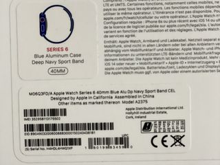 Apple Watch Series 6 40mm Blue Alu Dp Navy Sport Band Cel