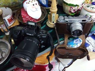 Фотоаппараты Фэд-2, Minolta Dynax 500si, Agfa старинный