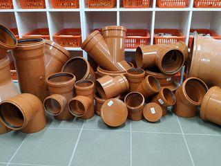 Țevi de canalizare din PVC,si Accesorii (orange) SN-2/4 Calitate Superioara (Germania) or.Vatra