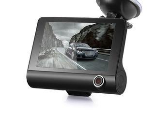 "Видеорегистратор Onever 4 ""1080 P 3 камеры ,full HD,диагональ экрана:4 incн ,Зеркало видеорегистатор"