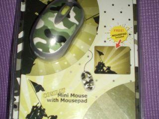 Mini mouse в стиле милитари в подарок коврик