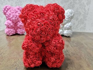 Мишка из роз, оригинальный подарок для девушки ! Ursulet din roze