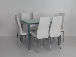 Новые обеденные столы и стулья из металла и стекла от 410 лей!