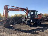 Hitachi zaxis160w колесный экскаватор excavator pe roti