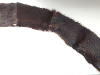 Норковый коричневый воротничок для женского костюма (пальто) или шапки,.б/у,.хоршее состояние.