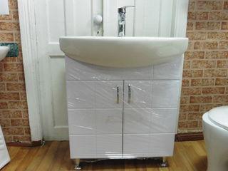 Умывальник с тумбой,навесной шкаф для ванной. Унитазы,умывальники. Ванны,поддон душевой,