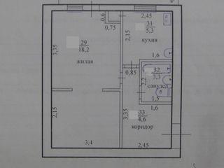 Продаю однокомнатную квартиру в центре, ул. Гвардейская 28. 8000$