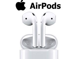 Беспроводные наушники Apple AirPods + cadou power bank 6000 mAh