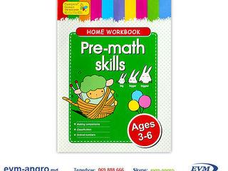 Книга раскраска   skhw0006 пропись english 3 6лет pre math skills GA3083