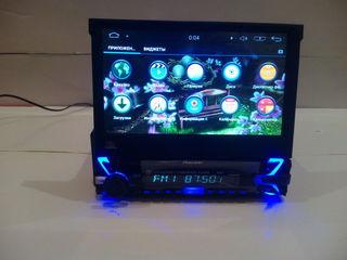 Pioneer с выдвижным экраном android,3g, wifi,bt,usb,gps,mp4 камера в подарок!