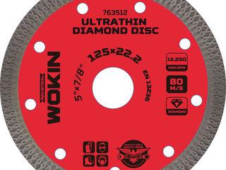 Диск алмазный отрезной по керамограниту 125х1mm (Prof) Wokin