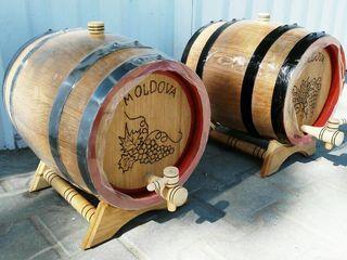Дубовая бочка от 3 литра для коньяка, вина, пива, Карта Молдовы.