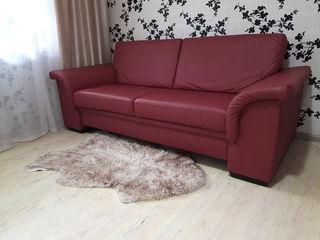 Canapea de piele naturala cu functie de dormit