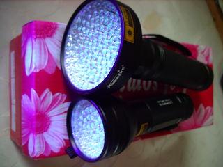 Для рыбалки и дома. Многоцелевой  ультрафиолет фонарь 100 LED UV. Суперцена