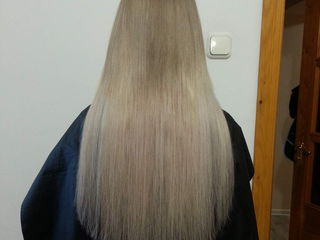 Наращивание волос 18 лей прядь с наращиванием волосы славянские.