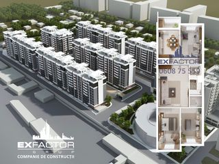 Exfactor Grup - Buiucani 4 camere 92 m2, et. 3 la cel mai bun preț, direct de la dezvoltator!