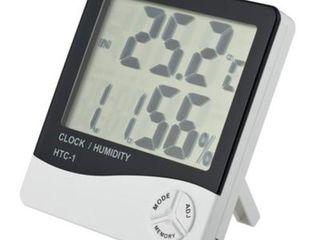 Измеритель влажности воздуха с термометром бытовой с часами и без