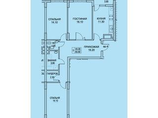 BUIUCANI 3 odai 85m2 - 690 euro /m2 etajul 5 , LA EXFACTOR