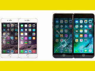 Schimbarea sticlei iPhone7,7+,6s,6s+,6,6+,5SamsungS7edge,S6edge,S7,S6,S5,S4