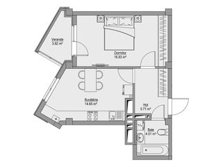 Центр! 1-ком. квартира - светлые комнаты