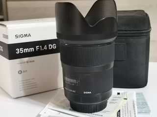 Sigma 35mm f1.4 dg hsm art f/canon