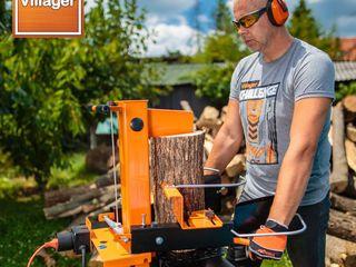 Masina hidraulica de despicat lemne villager pls 10 t cu motor benzina 4 t -  euro 5, 7 cai putere