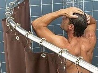 Cornisa baie. Карниз для шторки душа и ванной.
