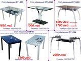 Столы, стулья из стекла и металла. Тв стойки. Журнальные столики. Продажа в кредит!