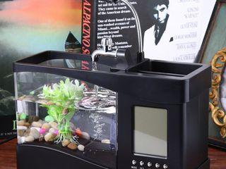 Аквариум мини, кормушка для рыб автоматическая