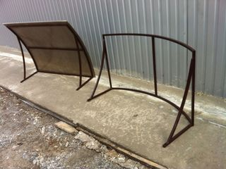 Изготовления козырьков метало конструкций дверей