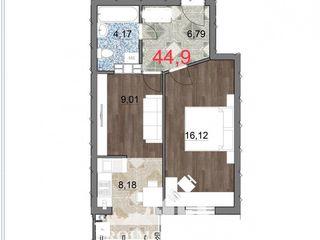 Телецентр, 45 кв.м - цена 550 € кв.мНовострой. Telecentru, str. Ialoveni  45 m2