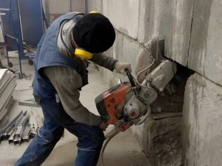 Вырубка бетона алмазное резка бетона резка расширение оконных дверных проемов усиление проемов