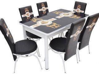 Set mg-plus kelebek vr black/gold (6 scaune) reducere, livrare gratuită