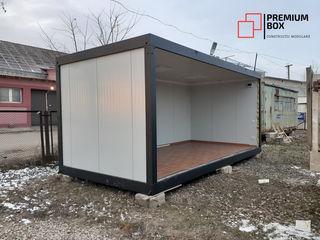 Construcție modulară cu destinație birou. Dimensiuni externe totale 6000mm x 3000mm x 2800mm