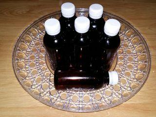 Flacon din plastic brun de calitate alimentara 200 ml