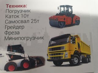 Reparatii drum, trotuare, amenajări, compactare,  Greider 14,5t, catok 10t, freza asfalt 400mm