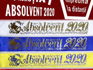Panglici pentru absolventi 2020, лента выпускник, adio gradinita, insigne, diplome, invitatii, toca