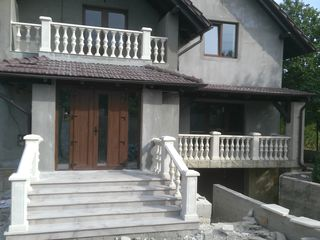 Balustrada din beton sunt mai ieftine decât balustradele din fier forjat !