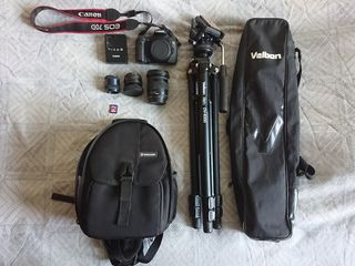 Set: Canon 70D / C SIGMA 17-70mm / Helios 44-2 / Trepied Velbon / Geanta Vanguard