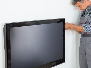 Установка телевизоров на стену. TV LCD, LED, OLED,QLED и плазменные. Кронштейны ТВ.