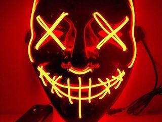 Светодиодная неоновая маска «Судная ночь» - новый тренд 2019 года!