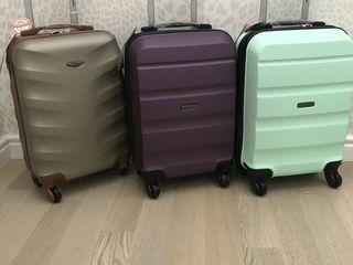 Новые шикарные польские чемоданы на колёсах-ручная кладь.Бесплатная доставка !