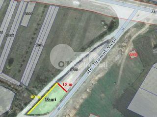Teren pt. construcție spălătorie auto/benzinărie, 10 ari, zonă dezvoltată Trușeni 23000 €