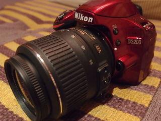 Nikon D3200 red + Nikkor 18-55mm f/3.5-5.6G