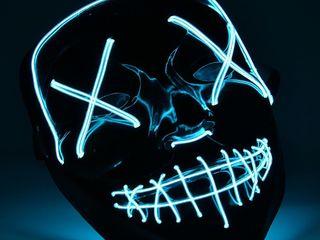 Светодиодная неоновая маска «судная ночь» - новый тренд 2021 года!