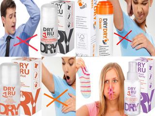 DRYDRY Classic DryRU Roll DryRU Foot Spray Средство от пота Remediu pentru transpirație от 150 Lei